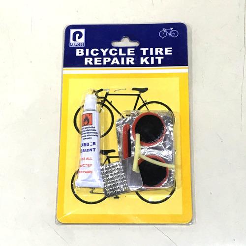 kit de parches solución p/ bicicleta gomines varios tamaños