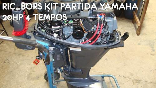 kit de partida eletrica motor de popa yamaha 20hp 4 tempos