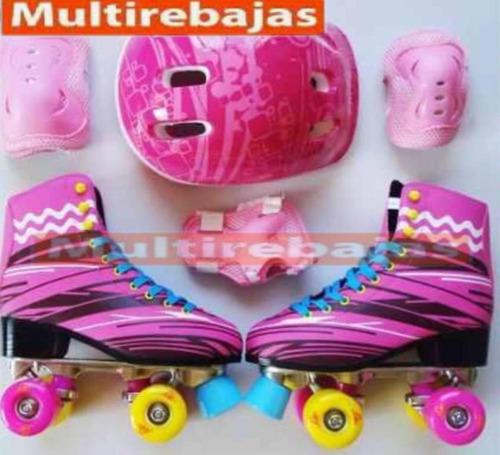 kit de patines soy luna con accesorios para niñas