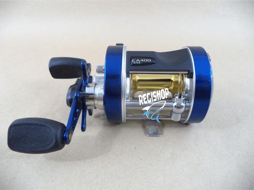 kit de pesca - carretilha marine caster 400 + kit pesqueiro
