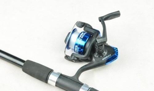 kit de pesca vara + molinete + linha + boia + anzóis +