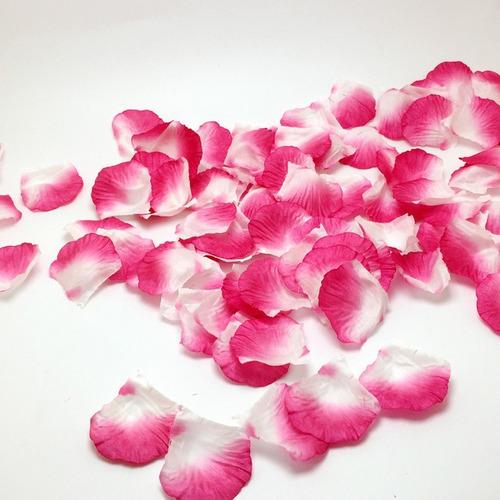 kit de pétalas artificiais pink com branca - 1000 pétalas