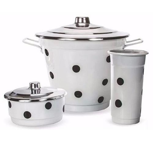 kit de pia alumínio lixeira detergente sabão poá 000 39