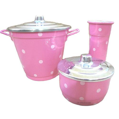 kit de pia alumínio lixeira detergente sabão poá 000 62