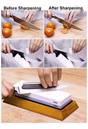 kit de piedra para afilar cuchillos - juego de 2 piedras de