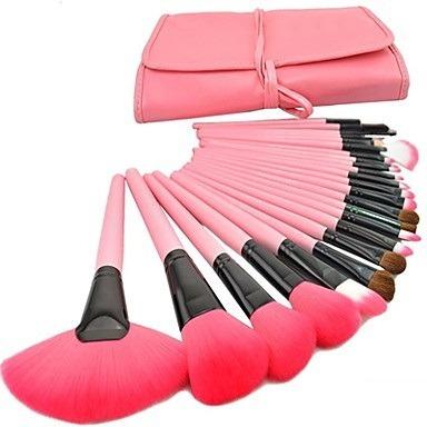kit de pincel para maquiagem com 24 pçs - lux hair
