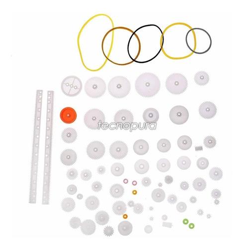 kit de piñones / engranajes plásticos y poleas x72 unidades