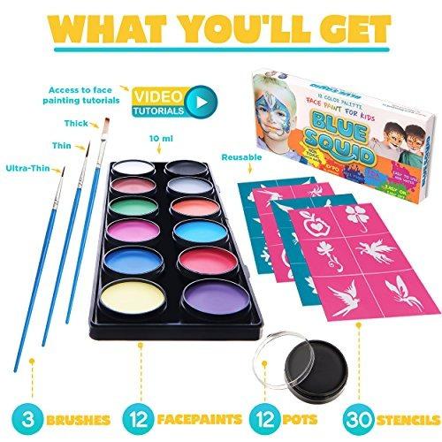 kit de pintura facial para niños 30 plantillas