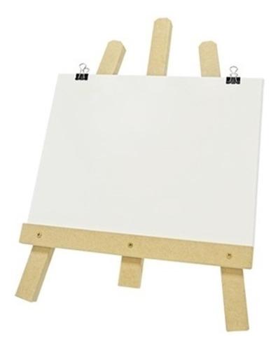 kit de pintura infantil tela branca de neve com cavalete de