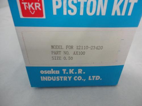 kit de piston suzuki ax100 0.50, 1.00, 1.50 y 2.00
