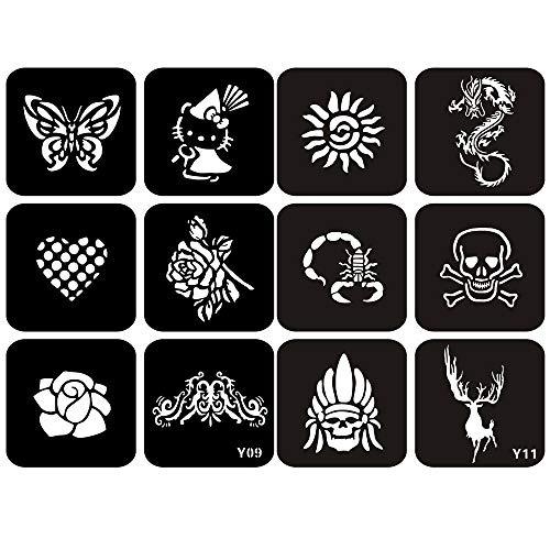Kit De Plantillas Para Tatuaje De Henna Veamor 74300 En