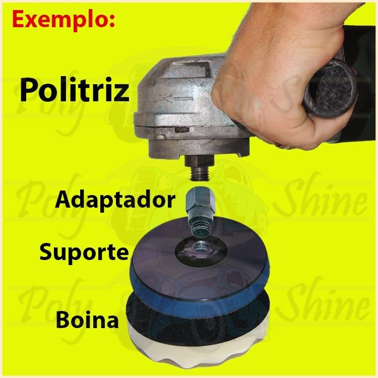 Kit De Polimento Boinas + Disco + Adaptador Politriz 5 Pol. - R  120 ... 6769de581a3