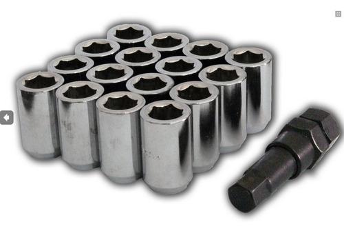 kit de porca lob cromada 12 x 1,25mm chave 16mm