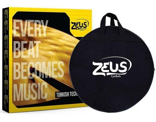 kit de pratos zeus evolution set c 14/16/20 + bag + baqueta