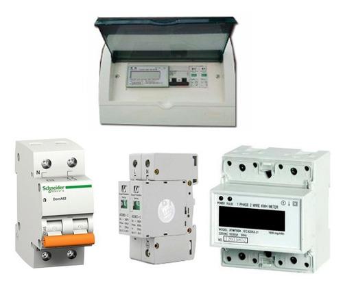 kit de protecciones y medidor paneles solares