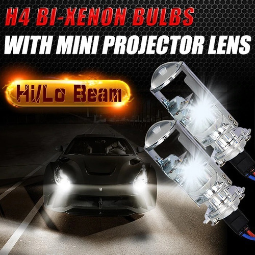 kit de proyectores c/lupa h4 sin tener que abrir la optica!!