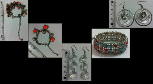 kit de pulseiras e brincos - 4 pulseiras e 10 brincos