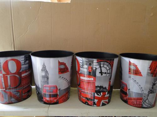 kit de quatro lixeiras de londres big ben onibus london fone