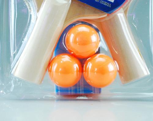 kit de raquetas de tenis de mesa + 3 pelotas  ping pong