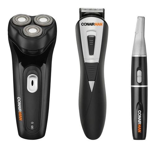 kit de rasuradora, cortadora y perfiladora conair gk20es