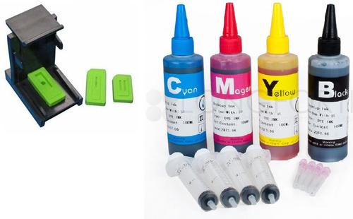 kit de recarga de tinta y clip para cartuchos hp60 hp122 pm0