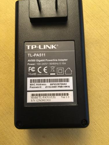 kit de rede de dados sobre rede elétrica tp link - usado