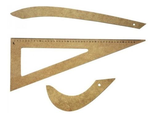 kit de réguas para corte e costura