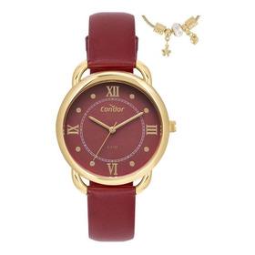 Kit De Relógio Condor Feminino Co2035mpp/k2r Vermelho