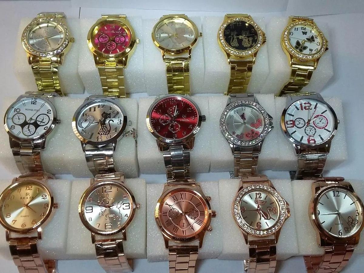 f4cfa01b8ef kit de relógio feminino lote com 5 peças lindos bonitos top. Carregando zoom .