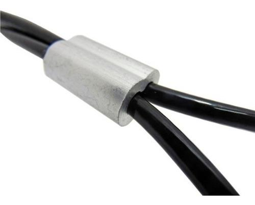 kit de reparacion cable nylon negro aparatos gimnasio 1/4