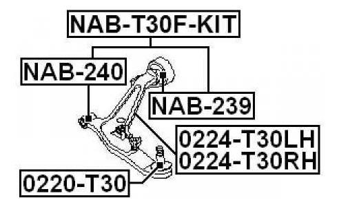 kit de reparacion de meseta nissan t30 xtrail 04 - 08 febest