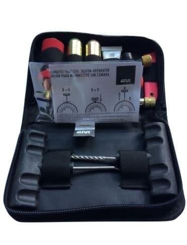 kit de reparación neumático tubular moto