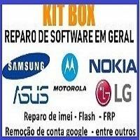kit de reparo, flash e desbloqueio de celulares (brindes)