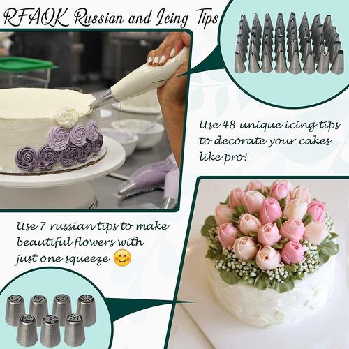 kit de repostería y decoración de tortas de 174 piezas 50vds