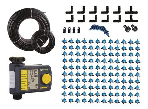 kit de riego automatico con 120 goteros autocompensantes