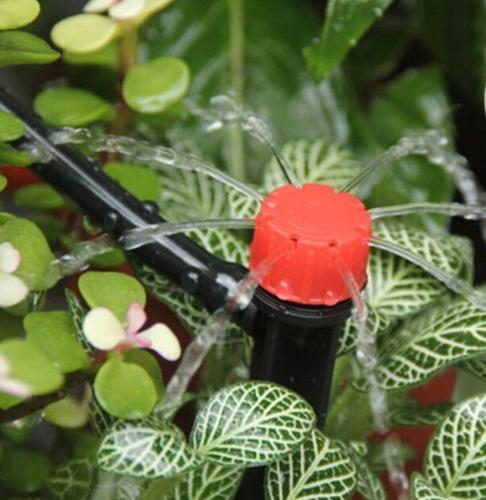 kit de riego automatico con 18 microaspersores 360