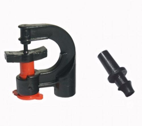 kit de riego de 6 microaspersores con estaca y tubin
