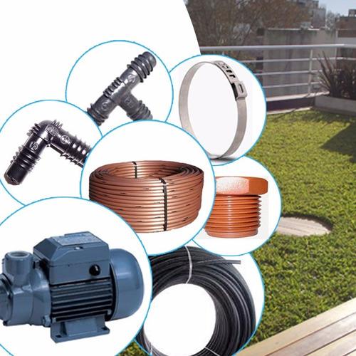 kit de riego subterráneo para terrazas verdes con bomba