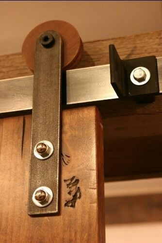 kit de rieles para puertas estilo granero..