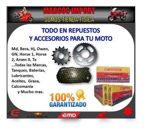 kit de rodamiento corona cadena piñón. motos horse owen bera