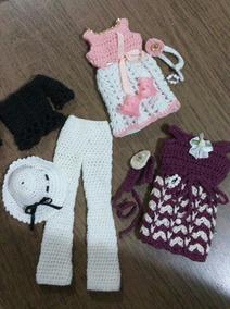7ad8abdc7886 Vestido De Barbie Em Croche - Acessórios para Bonecas no Mercado Livre  Brasil