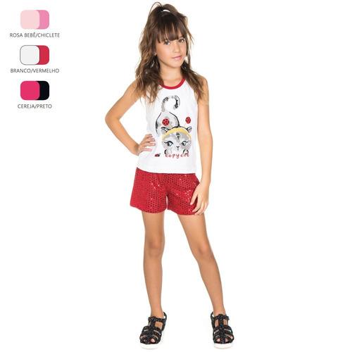 kit de roupas infantis para menina de 4-6-8-10 anos (verão)