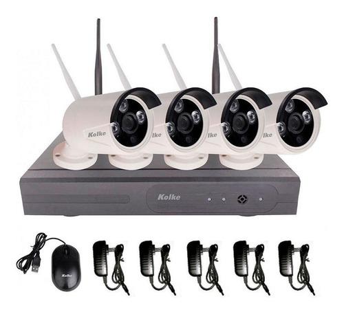 kit de seguridad 4 cámaras inalámbricas dvr hd wifi loi