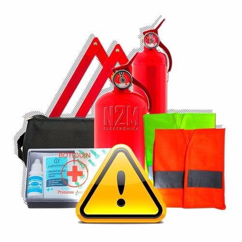 kit de seguridad reglamentario auto de 5 elementos vtv n2m