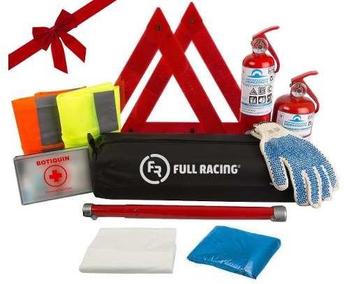 kit de seguridad reglamentario auto de 9 elementos + regalo