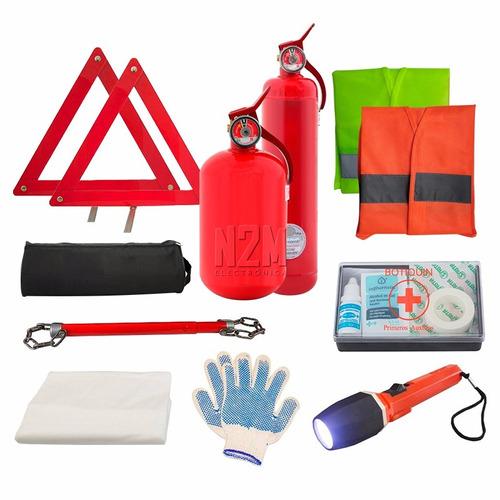 kit de seguridad reglamentario auto de 9 elementos vtv n2m