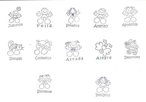 kit de sellos escolares