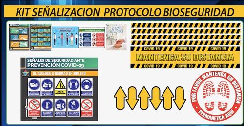 kit de señalización para bioseguridad