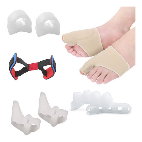 kit de silicona corrector ortopedico de juanetes 9 piezas