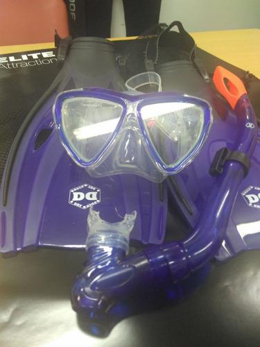 kit de snorkel para niños dry dock - tusa argentina